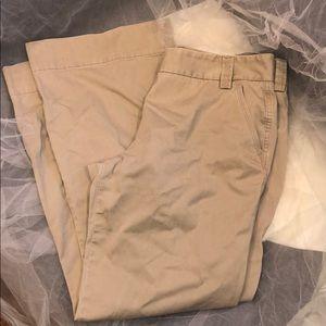 J. Crew khaki colored trousers